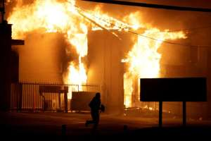 Burning Storage Facility in Ferguson