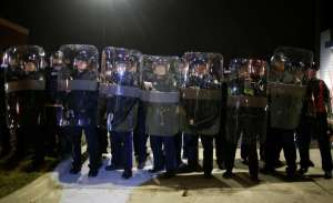 Missouri State Troopers in Riot Gear
